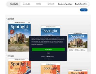 account.spotlight-verlag.de screenshot