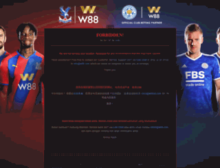 account.w88club.com screenshot