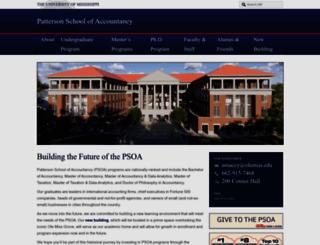 accountancy.olemiss.edu screenshot
