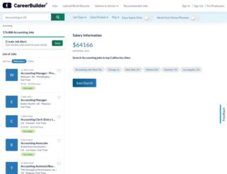 accounting.careerbuilder.com screenshot