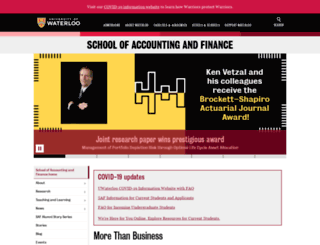 accounting.uwaterloo.ca screenshot