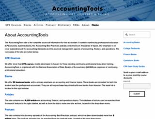 accountingtools.com screenshot