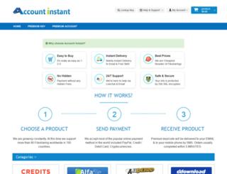 accountinstant.com screenshot
