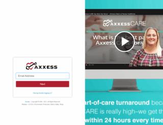 accounts.axxessweb.com screenshot