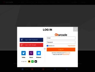 accounts.gtarcade.com screenshot