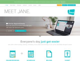 accounts.janeapp.com screenshot