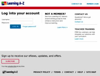 accounts.learninga-z.com screenshot