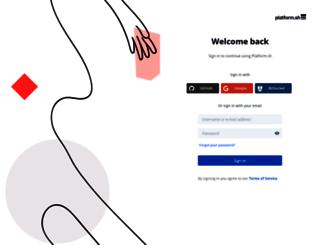 accounts.platform.sh screenshot