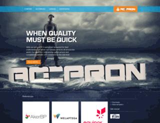 accpron.no screenshot