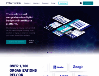 accredible.com screenshot