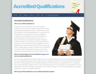 accreditedqualifications.org.uk screenshot