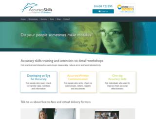 accuracyprogramme.co.uk screenshot