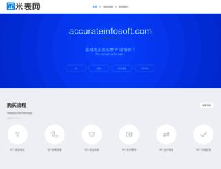 accurateinfosoft.com screenshot