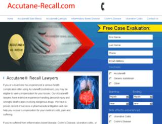accutane-recall.com screenshot