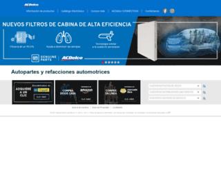 acdelco.mx screenshot