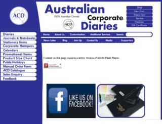 acdiaries.com.au screenshot