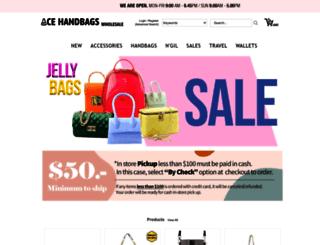 acebagsinc.com screenshot
