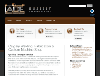 acecustomfabrication.ca screenshot