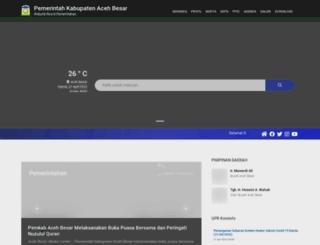 acehbesarkab.go.id screenshot
