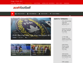 acehfootball.com screenshot