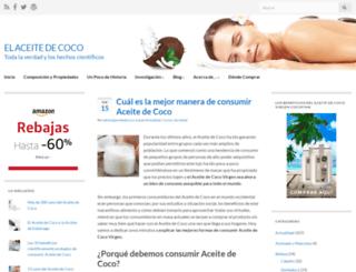 aceitedecoco.org screenshot