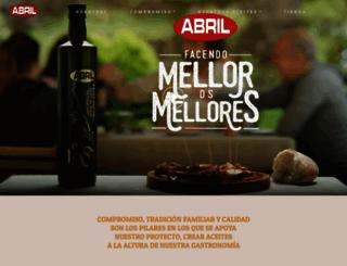 aceitesabril.com screenshot