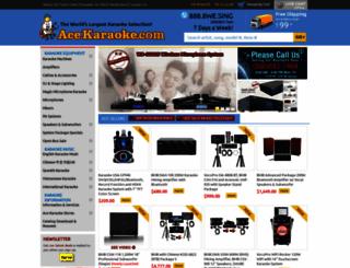 acekaraoke.com screenshot
