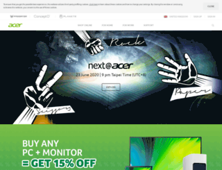 acer.co.uk screenshot