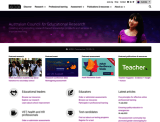 acer.edu.au screenshot