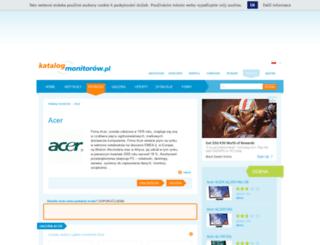 acer.katalog-monitorow.pl screenshot