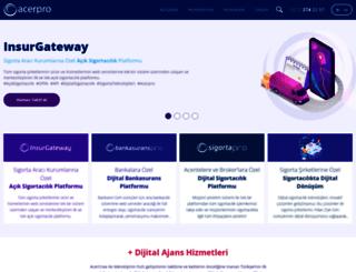 acerpro.com.tr screenshot