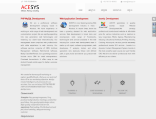 acesys.in screenshot