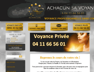 achacunsavoyance.com screenshot