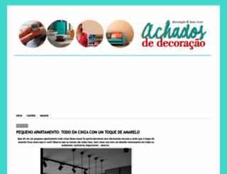 achadosdedecoracao.blogspot.com.br screenshot