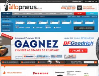 achat-pneu.allopneus.com screenshot