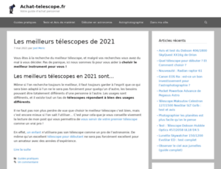 achat-telescope.fr screenshot
