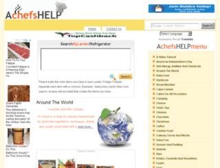 achefshelp.co.uk screenshot