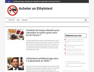 acheter-ethylotest.fr screenshot