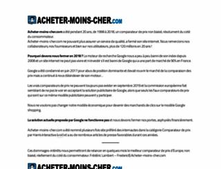 acheter-moins-cher.com screenshot
