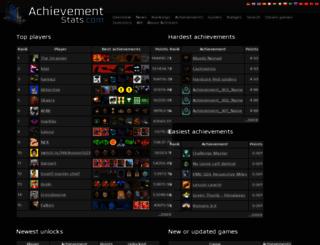 achievementstats.com screenshot