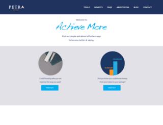 achievemore.petratrust.com screenshot