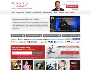 achieversgroup.com.au screenshot