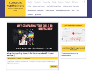 achievershubinstitute.com screenshot