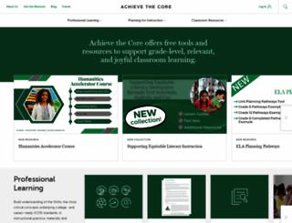achievethecore.org screenshot