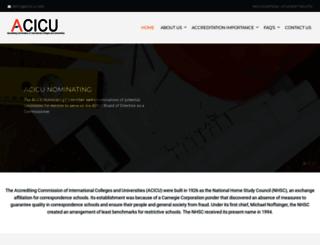 acicu.org screenshot