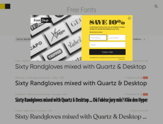 acidfonts.com screenshot