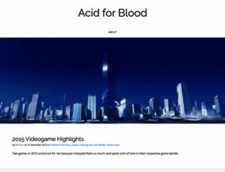 acidforblood.net screenshot