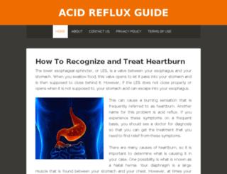 acidrefluxguide.org screenshot