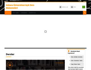 acikders.ankara.edu.tr screenshot