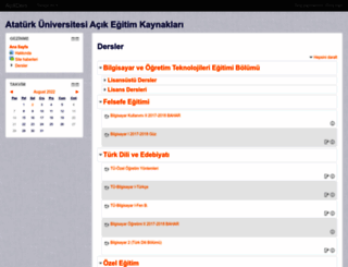 acikders.atauni.edu.tr screenshot